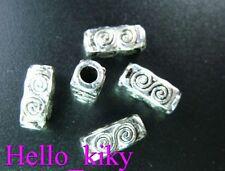 60 Pcs Tibetan silver spiral cube spacer beads A44