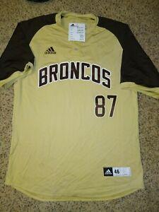 Adidas Custom Denver Broncos Ed McCaffrey #87 Jersey size 46 - beige and brown