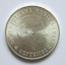 10 Gulden Niederlande Juliana Regina 4. September 1973 Silber