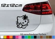 Hello Kitty 12x12cm lustig Autoaufkleber Sticker Bomb JDM Car Tuning Japan OPEL