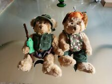 Russ Berrie Plush Montana Fishing & Buck Hunting Teddy Bear set