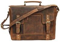 Greenburry Vintage Leder Aktentasche Businesstasche Lehrertasche antikbraun