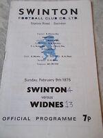 9.2.75 Swinton v Widnes programme Challenge Cup