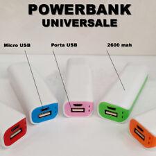 BATTERIA CARICA D' BANK, POWER PORTATILE EMERGENZA UNIVERSALE 2600 Mah jc
