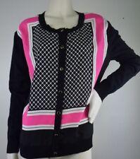 New York & Company Black Pink Cardigan Sweater Size XL NWT