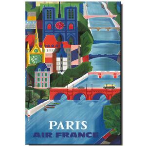 Paris fridge magnet Vintage Poster France travel souvenir