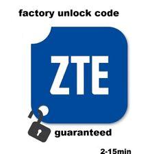 Unlock Code ZTE Blade: A3  A465 A5 PRO C2  GLUX  GPRO L105 L110 L111 L2 Q QMAXI