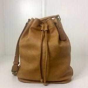 Vintage Coach Honey Shoulder Pouch 80s Lightweights Slouchy Drawstring Duffle