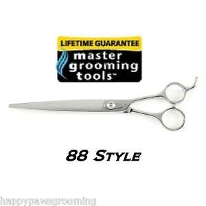 "MASTER Grooming 88 Filipino Style STRAIGHT PRO Shears 8 1/2""PET DOG CAT Scissors"