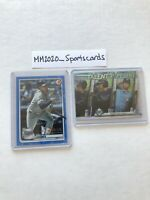 Willy Adames Bowman Lot (2) 2020 Blue #d /150 & 2017 Insert Refractor Lowe Rays