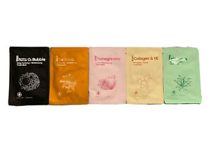 5 Assorted facial mask sheets