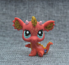 Orange Dragon Blue eyes LITTLEST PET SHOP LPS mini Action Figures #2484
