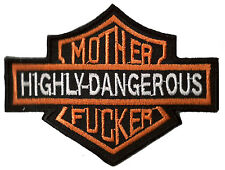 Badge Patch Mother F Cker Patch Biker Embroidered Fusible