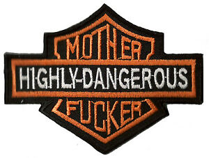 Ecusson patche Mother F*cker patch motard brodé thermocollant