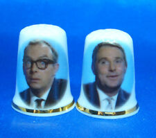 Birchcroft  Thimbles Pair -- Morecambe and Wise  --  Free Dome Gift Boxes