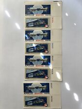 US Stamps,  10c 1975 Strip of 6 & Strip of 2 Apollo-Soyuz Issue USPS Stamps