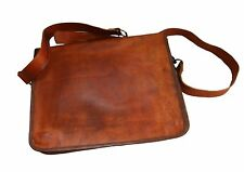 Genuine Leather Handmade Brown Messenger Shoulder Bag Vintage Laptop Briefcase 6