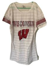 Wisconsin Badgers Ncaa Sideline Apparel Women's Partial See-through Shirt Medium