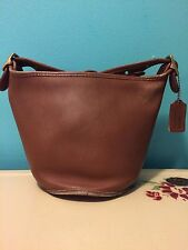 1980s Brown Leather Coach Bucket Bag