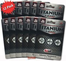 12 Pills Titanium 4000 Male Sexual Enhancement Plus Energy - 100% Authentic