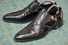 ROBERTO BOTTICELLI mens Black patent leather Loafer formal shoes size 9.5