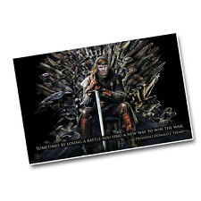 "President Donald Trump On The Iron Throne New Way to Win The War 11x17"" Poster"