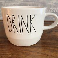 Rae Dunn DRINK Coffee Mug Cappuccino Ivory Tea Mug Set Combo LL 2019 *Brand New