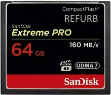 Sandisk Extreme Pro 16gb 32gb 64gb 128gb compact flash memory card CF 160mb/s UK