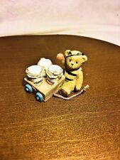 Cherished Teddies Tiny Treasured Bear As Bee With Wagon 2002 Nib