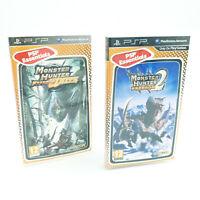 Lot Monster Hunter Freedom Unite et 2 - Jeux Sony PSP - Ave notices - PAL FR