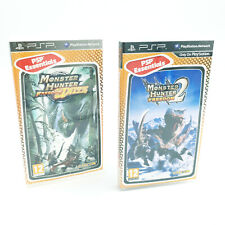 Lot Monster Hunter Freedom Unite et 2 - Jeux Sony PSP - Ave notices - PAL FR