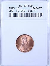 1995 Lincoln Cent : ANACS MS67RD DDO