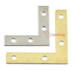 Steel L Shape Corner Brace Plate Right Angle Bracket 4 Furniture Windows photos