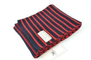 New Polo Ralph Lauren RRL DOUBLE RL Striped Pima Cotton Scarf