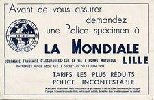 BUVARD / PUBLICITAIRE / ASSURANCE // LA MONDIALE // LILLE
