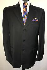 MS2099 PIERRE CARDIN MEN'S BLACK SUPER 100 SUIT BLAZER JACKET SIZE 40R