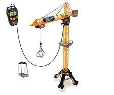 Dickie Bau Kran Giant Crane 120cm ferngesteuert mit Zubehör