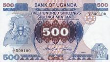 Uganda 500 shilingi 1986 pick 25
