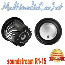 """Soundstream R1-15 15"""" Dual 4 ohm Reference Series Subwoofer"""