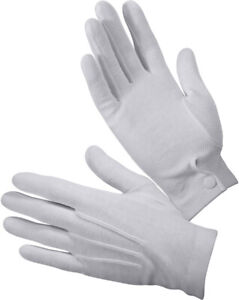 White Dress Parade Gloves with Gripper Dots