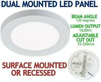 NEW 18W LED Surface Mounted Recessed Panel Bulkhead Light Flush Ceiling Round