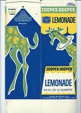 "1969 Meadow Gold Paper Milk-Lemonade Drink Carton ""Ephemera"" - Giraffe & Clown"