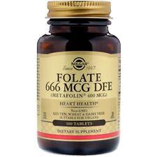 Solgar, Folate DFE, 666 Mcg, 100 Tablets