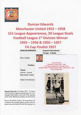 DUNCAN EDWARDS MANCHESTER UTD 1952-58 VERY RARE ORIGINAL HAND SIGNED MAG CUTTING