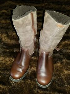 Ugg Leather Boots Womens 7 EUR 38 Bellvue Convertible Leather Suede Riding Boots