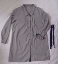 Yes Style Shirt Dress, gray with blue sash, approx Juniors size Small