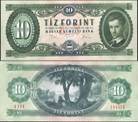 Ungarn 10 Forint. UNZ 28.10.1975 Banknote Kat# P.168e