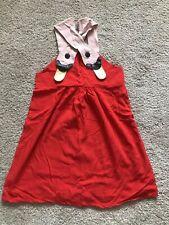 EUC Mini Rodini 🦢 Swan Sun Dress Red Dress 120 Supper Adorable Rare !!!