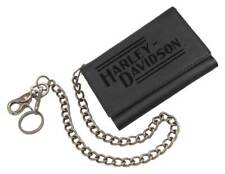 Harley-Davidson Men's Currency & Coin Biker Tri-Fold Medium Wallet IM2118L-BLACK