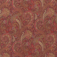 Robert Kaufman Paisley Prints Red BTY SB4214D12 fabric